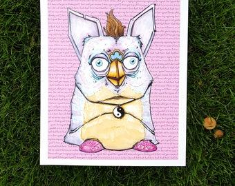 Don't Speak Art Print (Furby X Jelly Sandals Tribute)