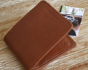 "Wallet made of leather camel ""JANTAN"""