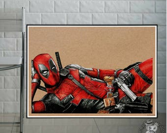 Deadpool -Fine Art Print - A4 / A3
