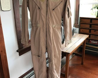 1990's United States Military Issue Tan Flight Suit