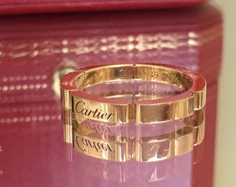 Excellent Authentic Cartier Panthere ring, 18K Pink Gold wedding band!