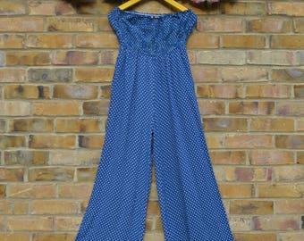Blue & White Polkadot Jumpsuit