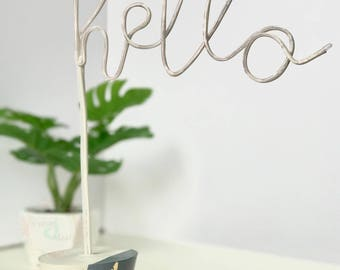 Mini Neon* Light, handmade hello neon light (Lampara de Neon de hello)