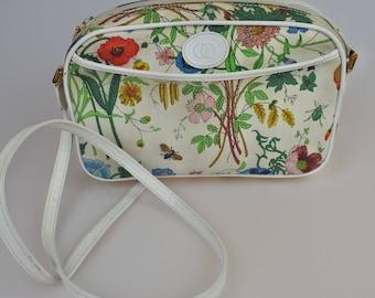 RESERVED!     GUCCI Vintage Flora Camera Crossbody / Messenger Bag