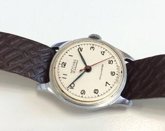 Moscow / Moskva, Soviet watch, Vintage 1960's, USSR watch, dress watch