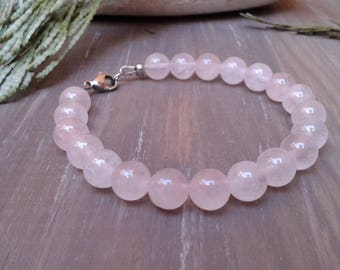 Rose Quartz bracelet with 8 mm stones