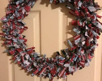 Christmas Tie Wreath