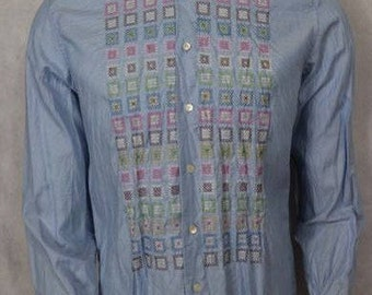 Ermanno Scervino-shirt with decoration on the front MADE IN ITALY vintage