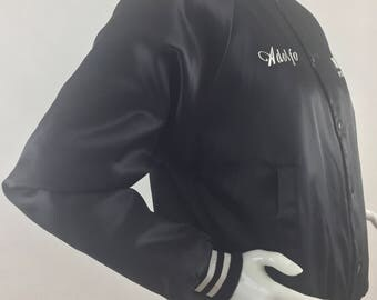 Vintage Auburn Sportswear/ Nary's Pizza & Grill Chicago Black and White Jacket/Made in USA/Size Adult Small