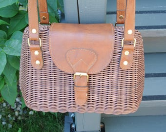 -Wicker - leather shoulder bag