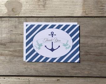 Thank You Card Set | Nautical - Set of 8