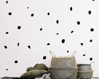 70 Irregular Polka Dot Wall Stickers
