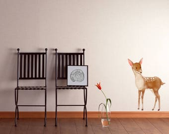Deer Watercolour Wall Sticker