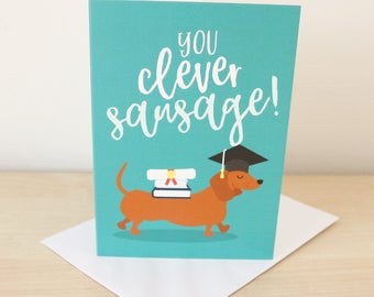 Graduation card / Funny graduation / Graduate / You passed / Degree / Congrats card / Congratulations card / Well done card