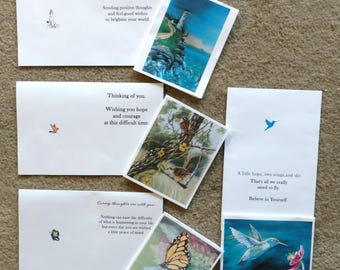 Note cards with inspirational greetings, 8 cards