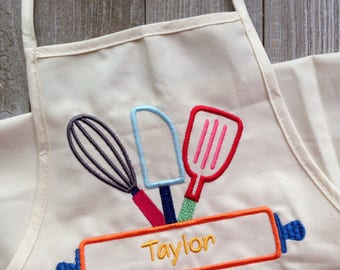 Personalized kid's apron