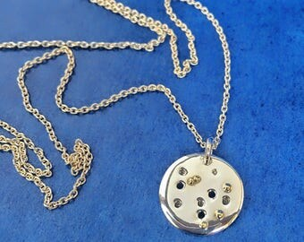 F U L L  M O O N  {silver, gold, necklace incl.}