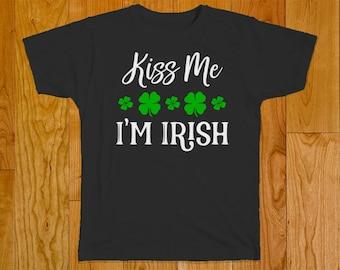 Kiss Me I'm Irish Shirt - St Patrick's Day Shirt - St Patty's Day Shirt - Funny Irish Shirt - Shirt for St Patricks Day - Funny Shirt - Iris