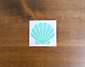 Seashell Vinyl Decal // Choose Your Color and Size