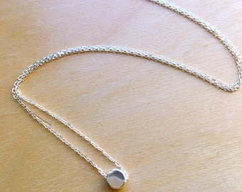 Dainty silver dot necklace/925 silver//Minimalist//Simple//Everyday