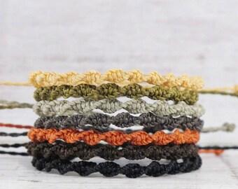 mens bracelet, mens friendship bracelet, fathers day gift for him, mens string bracelet, gift for dad, cord jewellery,  beach surf bracelet
