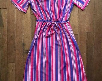 Vintage long striped dress
