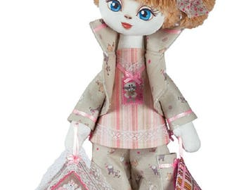 Doll Sleepyhead Girl Sewing Kit Textile carcass doll  Interior Doll  Holiday Gift Nova Sloboda