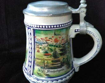 Original Gerz Beer Stein Gerzit West Germany With Pewter Lid 1960-1990