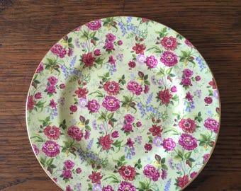 2 Vintage English Floral Plates