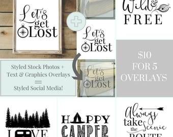 Overlay Text & Graphics Social Media Templates