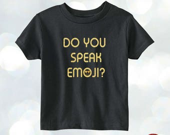 Do you speak emoji T-shirt toddler girl shirt glitter shirt