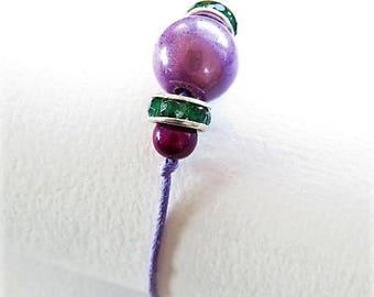 Waxed cotton bracelet 16313
