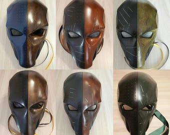 Inspired Deathstroke Mask, Deathstroke Helmet, Deathstroke Costume, DC comics, Batman Arkham Origins, Redhood Mask, Halloween Mask.
