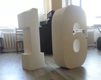 Styrofoam numbers 16 numbers Set of 2 numbers Giant numbers 30 inch Large free standing letters Sweet 16 numbers Huge numbers Table numbers