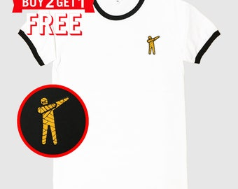 Mummy Dab Embroidered Ringer T-Shirt by 24PlanetsStudio