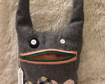Zippered mouth monster plush green creature toy zipper and pocket pouch monster for birthday , get well gift presents for children or adults