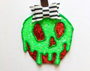 Poison Apple | Apple | Poison apple hair clip | Hair Clip | Halloween Hair Clip | Fun Hair Clips