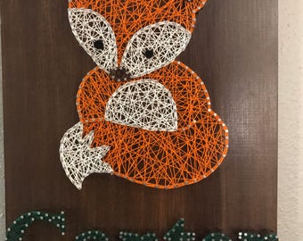 Woodland Fox String Art