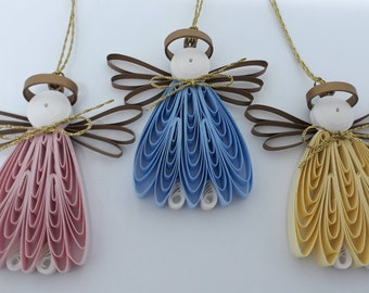 Quilled Angels Set of 3. Decorate your windows, rear view mirror, packages. Includes Free Gift Package.