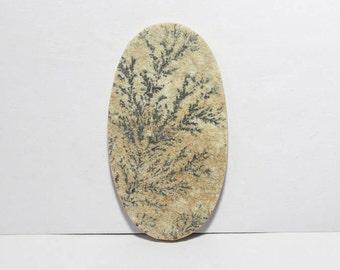 40% off  Psilomelane- Dendritic Limestone cabochon 56X31X4mm Size, Oval Shape Gemstone Cabochon, +++ AAA Quality Gemstone Pdf#1799