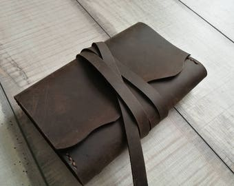 Leather notebook case, leather notebook cover, moleskine, field notes, A6