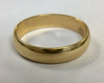 Thick Stacking Band 10k Gold Size 7