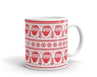 Christmas mug, Santa coffee mug, Hot cocoa christmas mug, Christmas coffee mug, christmas cup