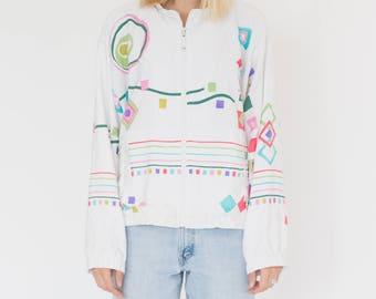 Vintage 90s Kiddy White Bomber Jacket