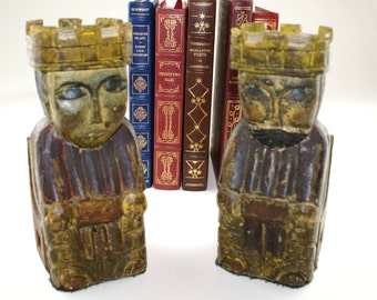 Dunhill Bookends | Made in Spain Vintage Dunhill Bookends | King and Queen Bookends