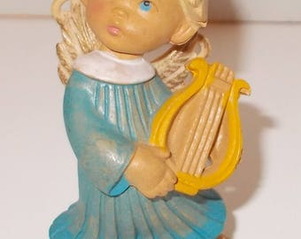 "Made in Italy ""Angel Figurine with Harp""  Vintage 1984"