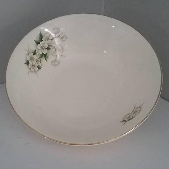 Georgian China Plate, Discontinued Georgian China, Spring Blossom of Georgian China, Replacement Serving Bowl Georgian China, Made in USA