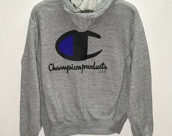 Rare Vintage Champion Products Usa Hoodie Size Medium M / Champion Sweatshirts / Champion Sweater / Champion T shirt / Hip Hop