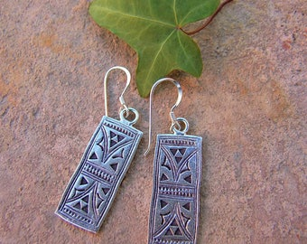 Sterling silver earrings. Ethnic Jewellery. Silver Jewellery. Silver earrings. Silver jewelry. Ethnic earrings. Ethnic jewelry.