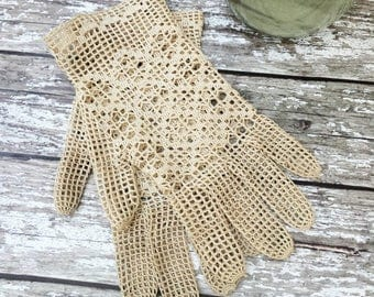 A Pair of Edwardian Mesh Gloves - Vintage